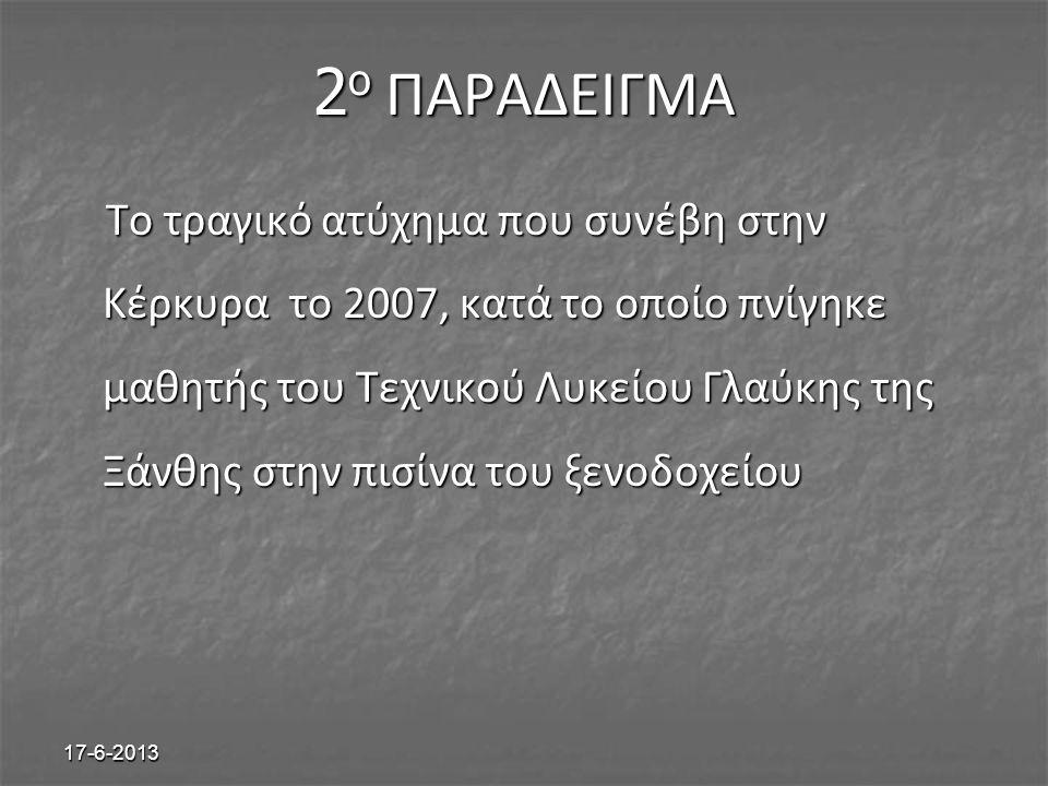 2ο ΠΑΡΑΔΕΙΓΜΑ