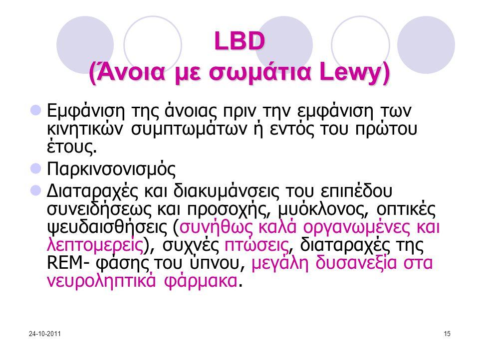 LBD (Άνοια με σωμάτια Lewy)