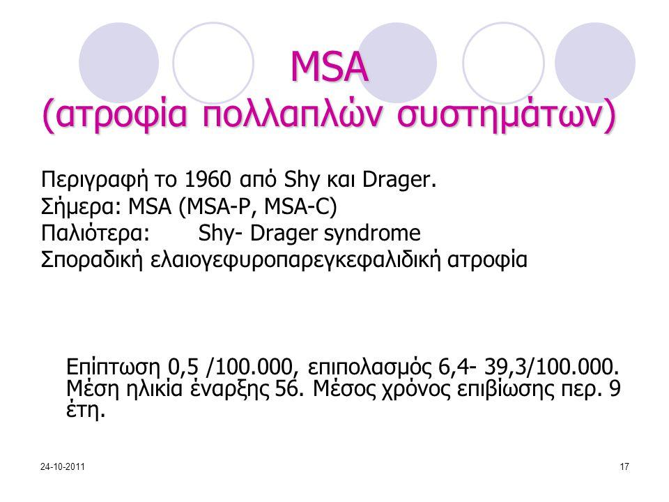 MSA (ατροφία πολλαπλών συστημάτων)