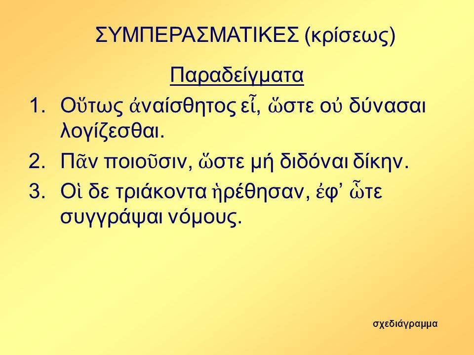 ΣΥΜΠΕΡΑΣΜΑΤΙΚΕΣ (κρίσεως)