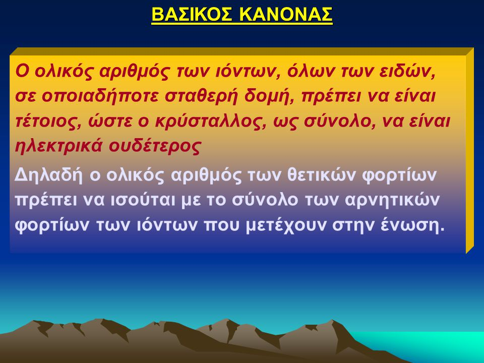 ΒΑΣΙΚΟΣ ΚΑΝΟΝΑΣ