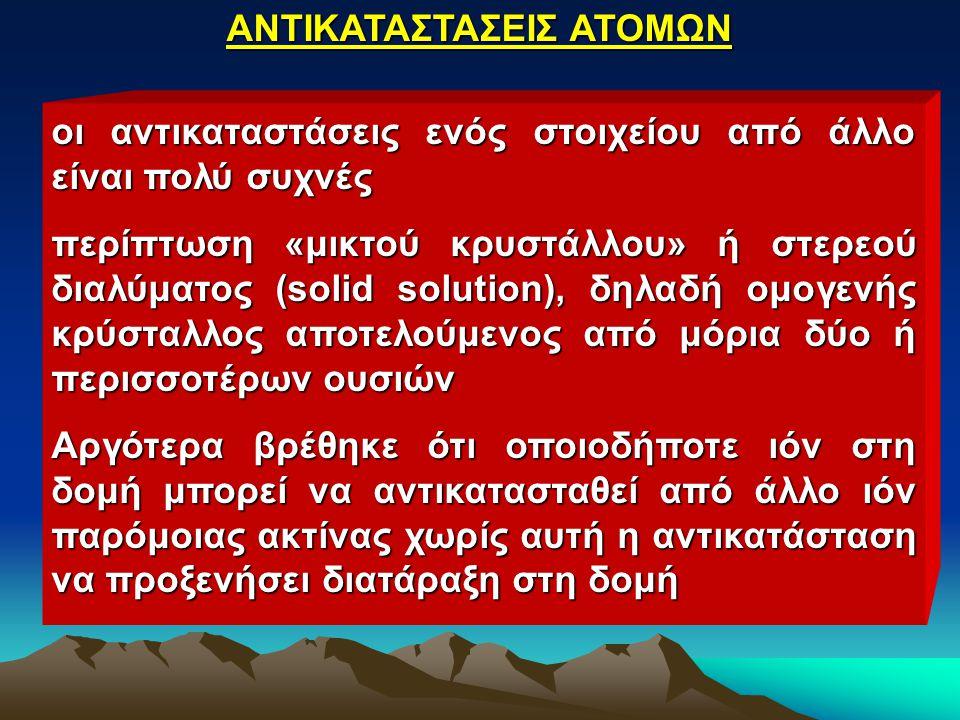 ΑΝΤΙΚΑΤΑΣΤΑΣΕΙΣ ΑΤΟΜΩΝ