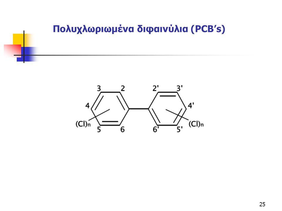 Πολυχλωριωμένα διφαινύλια (PCΒ's)