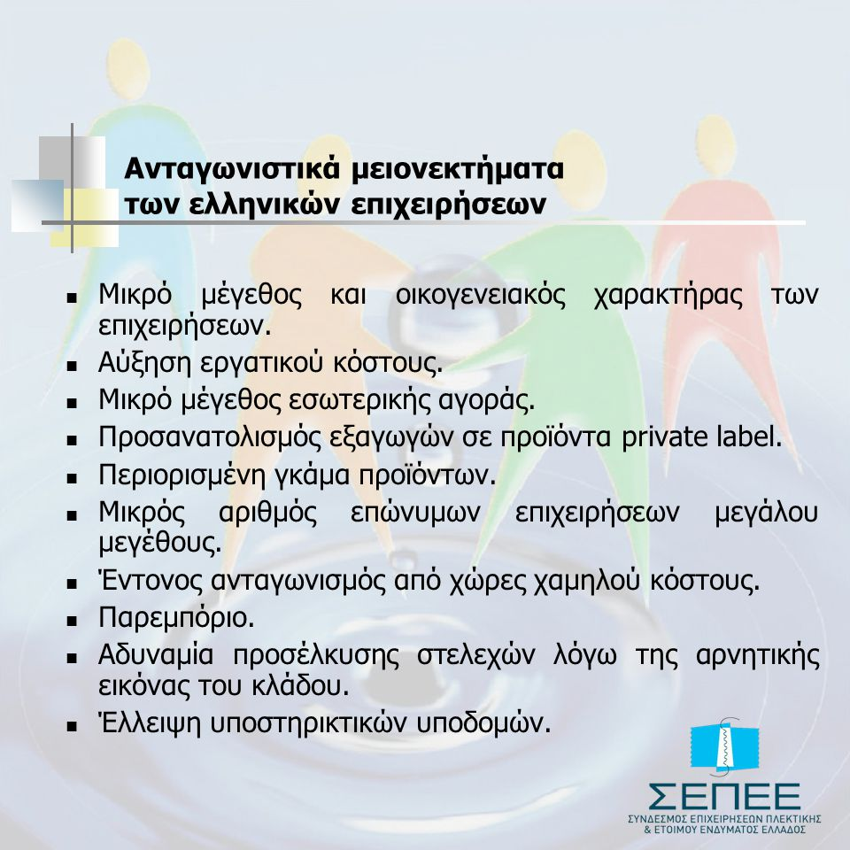 Ανταγωνιστικά μειονεκτήματα των ελληνικών επιχειρήσεων
