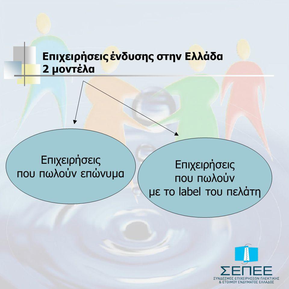 Επιχειρήσεις ένδυσης στην Ελλάδα 2 μοντέλα