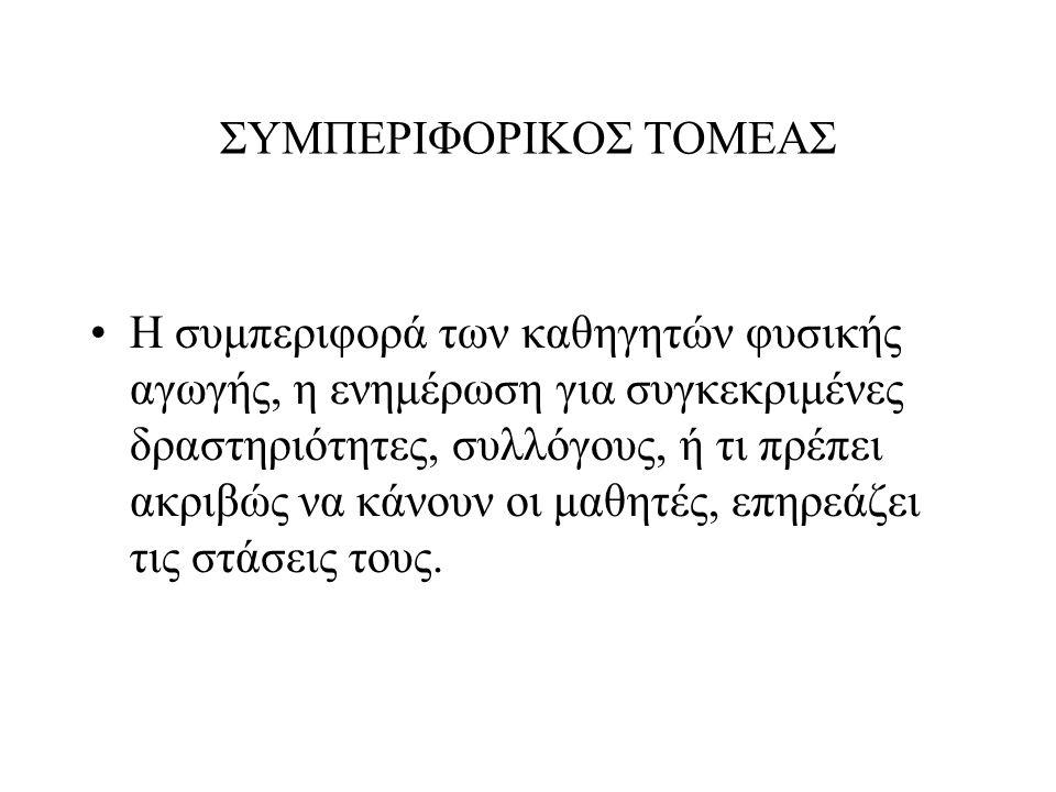 ΣΥΜΠΕΡΙΦΟΡΙΚΟΣ ΤΟΜΕΑΣ