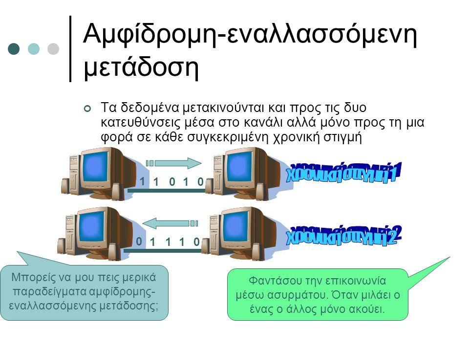 Αμφίδρομη-εναλλασσόμενη μετάδοση