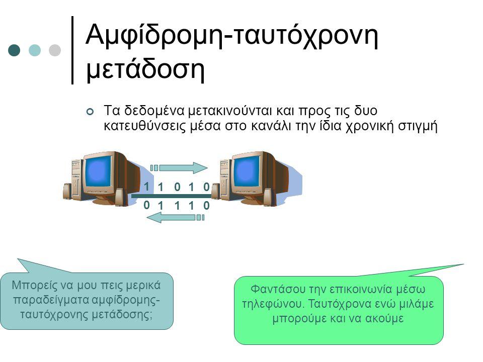 Αμφίδρομη-ταυτόχρονη μετάδοση