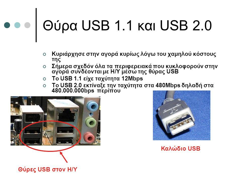 Θύρα USB 1.1 και USB 2.0 Καλώδιο USB Θύρες USB στον Η/Υ
