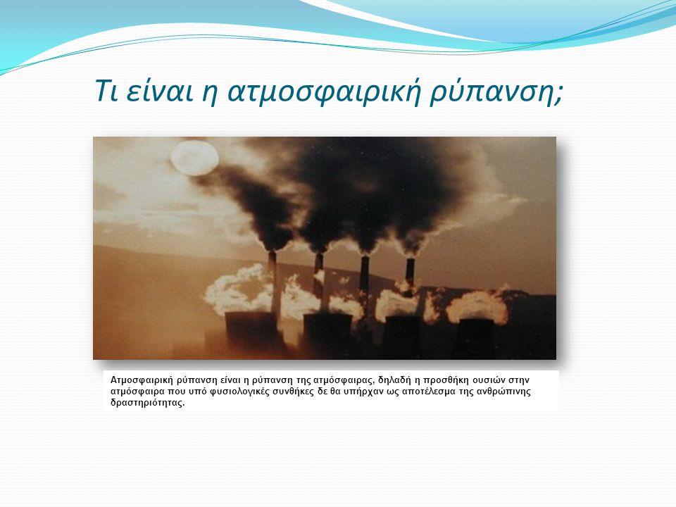 Τι είναι η ατμοσφαιρική ρύπανση;