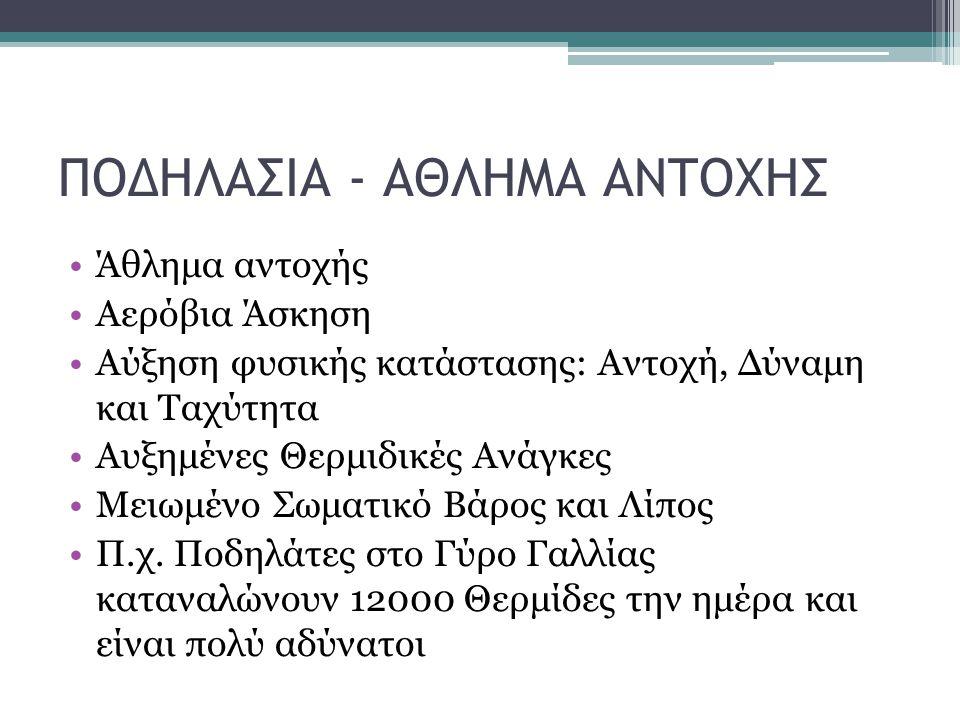 ΠΟΔΗΛΑΣΙΑ - ΑΘΛΗΜΑ ΑΝΤΟΧΗΣ