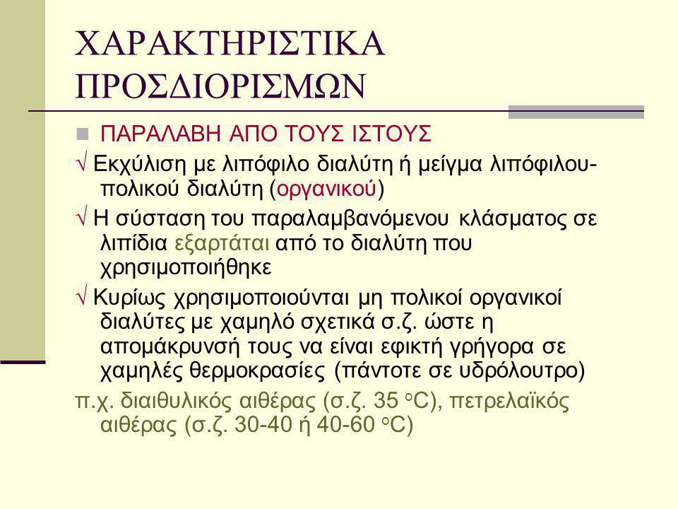 ΧΑΡΑΚΤΗΡΙΣΤΙΚΑ ΠΡΟΣΔΙΟΡΙΣΜΩΝ