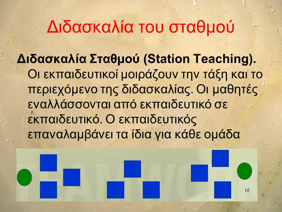 Διδασκαλία του σταθμού