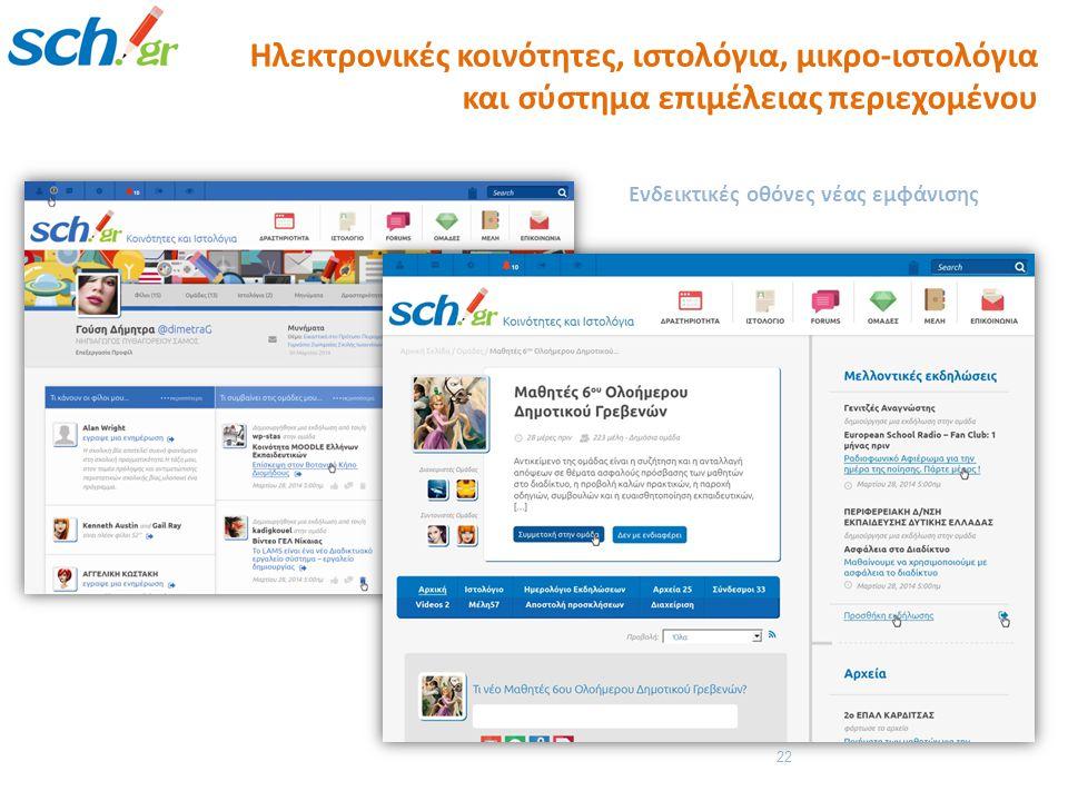 Ηλεκτρονικές κοινότητες, ιστολόγια, μικρο-ιστολόγια και σύστημα επιμέλειας περιεχομένου