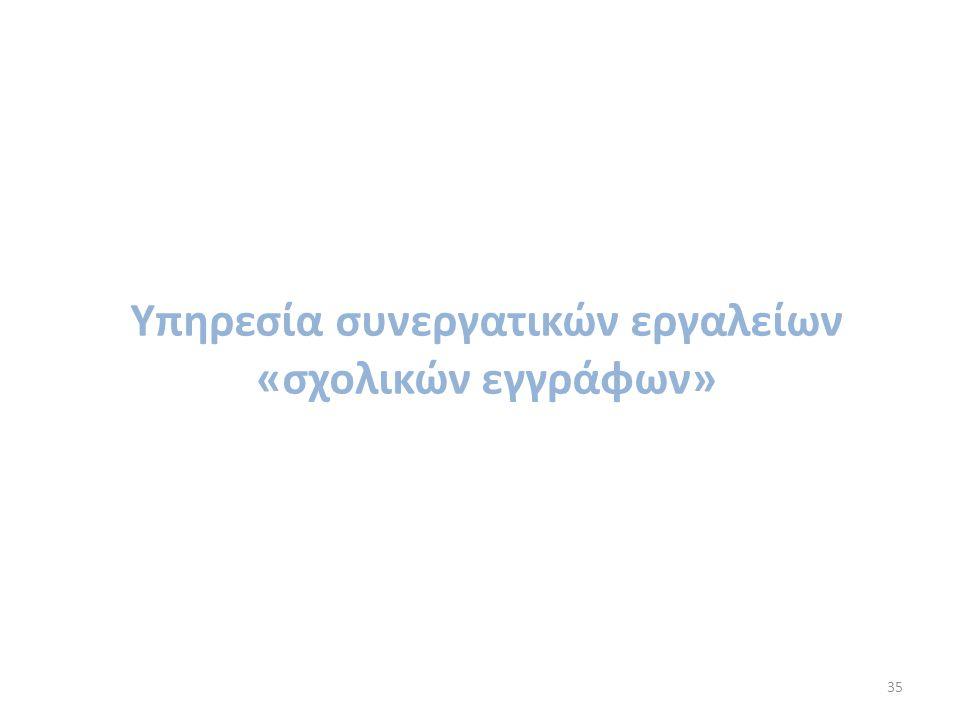 Υπηρεσία συνεργατικών εργαλείων «σχολικών εγγράφων»