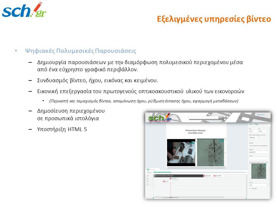Εξελιγμένες υπηρεσίες βίντεο