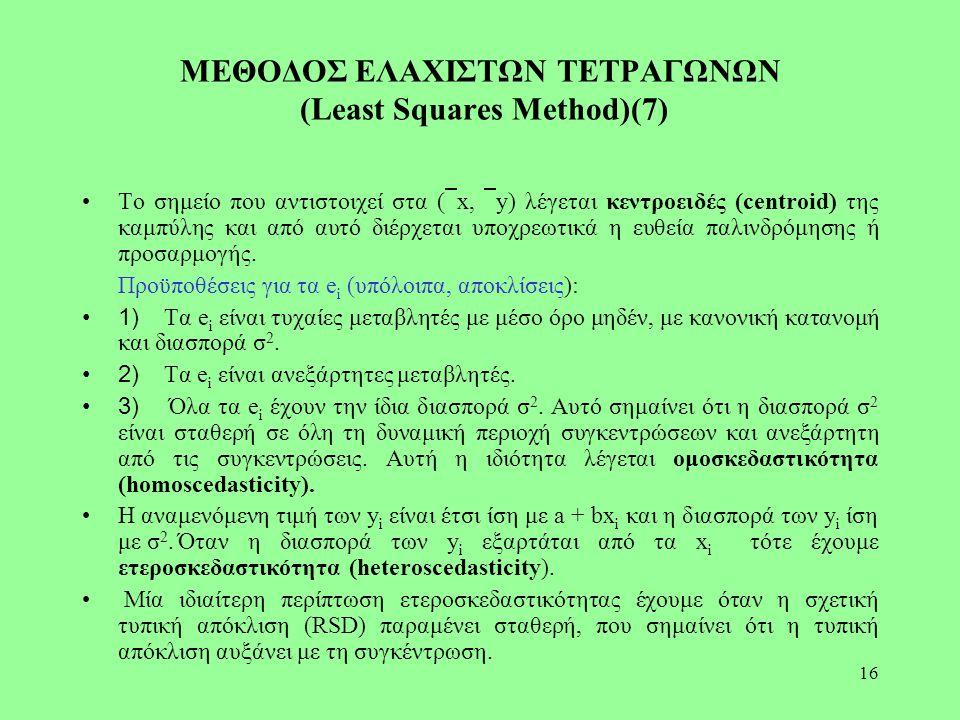 ΜΕΘΟΔΟΣ ΕΛΑΧΙΣΤΩΝ ΤΕΤΡΑΓΩΝΩΝ (Least Squares Method)(7)