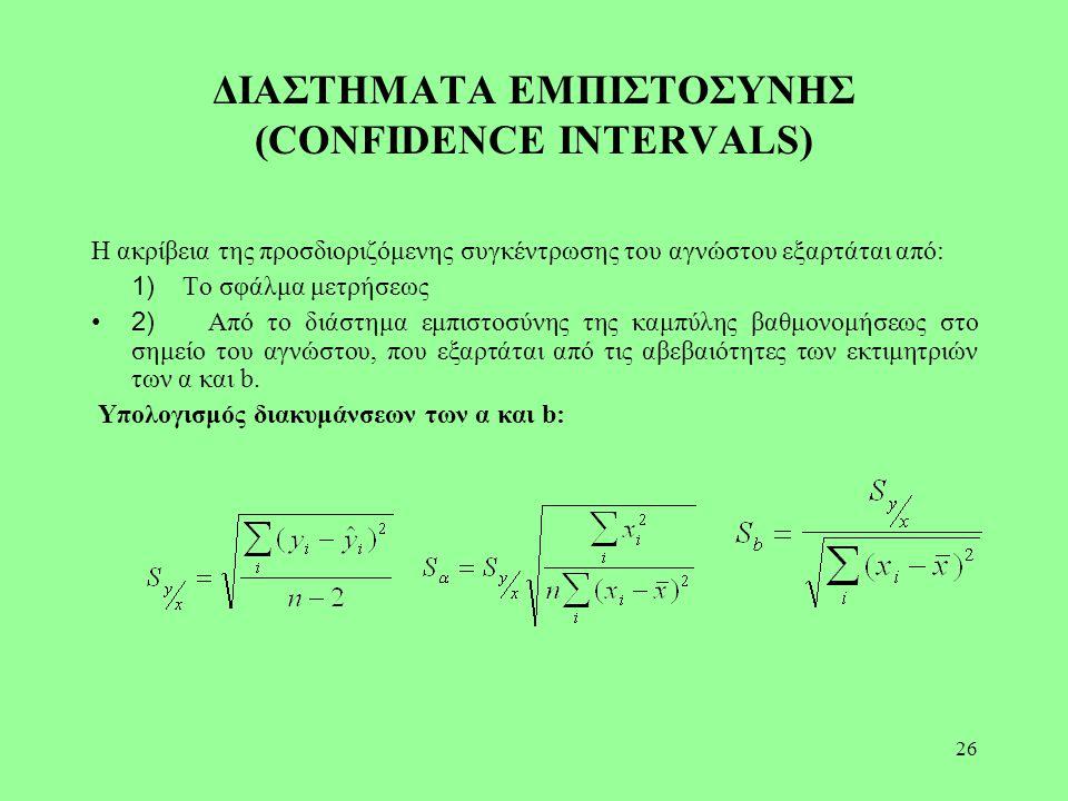 ΔΙΑΣΤΗΜΑΤΑ ΕΜΠΙΣΤΟΣΥΝΗΣ (CONFIDENCE INTERVALS)