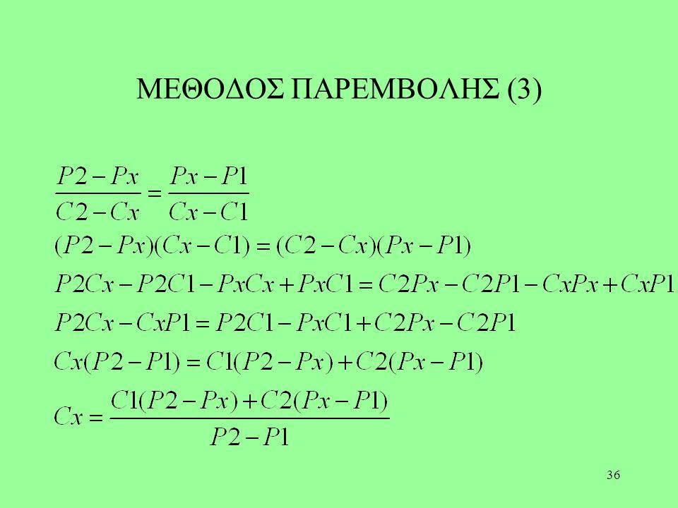ΜΕΘΟΔΟΣ ΠΑΡΕΜΒΟΛΗΣ (3)