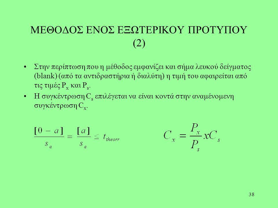 ΜΕΘΟΔΟΣ ΕΝΟΣ ΕΞΩΤΕΡΙΚΟΥ ΠΡΟΤΥΠΟΥ (2)