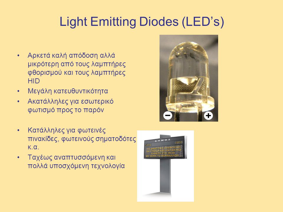 Light Emitting Diodes (LED's)