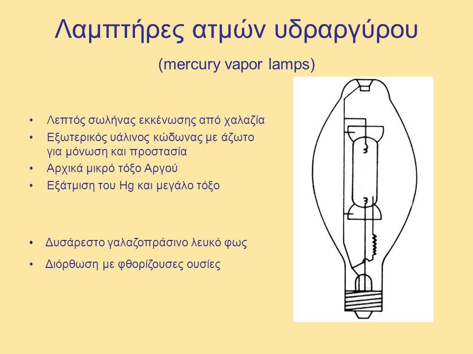 Λαμπτήρες ατμών υδραργύρου (mercury vapor lamps)