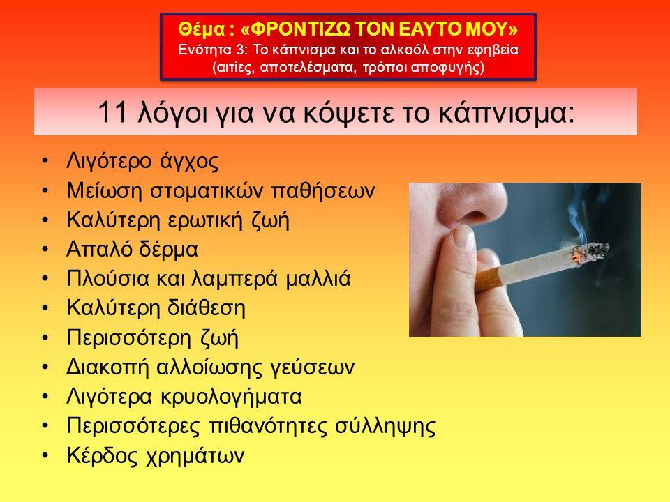 11 λόγοι για να κόψετε το κάπνισμα: