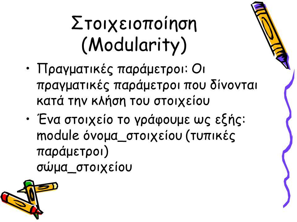 Στοιχειοποίηση (Modularity)