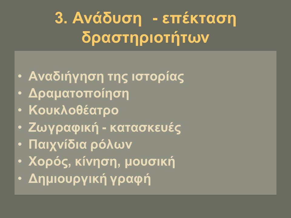 3. Ανάδυση - επέκταση δραστηριοτήτων