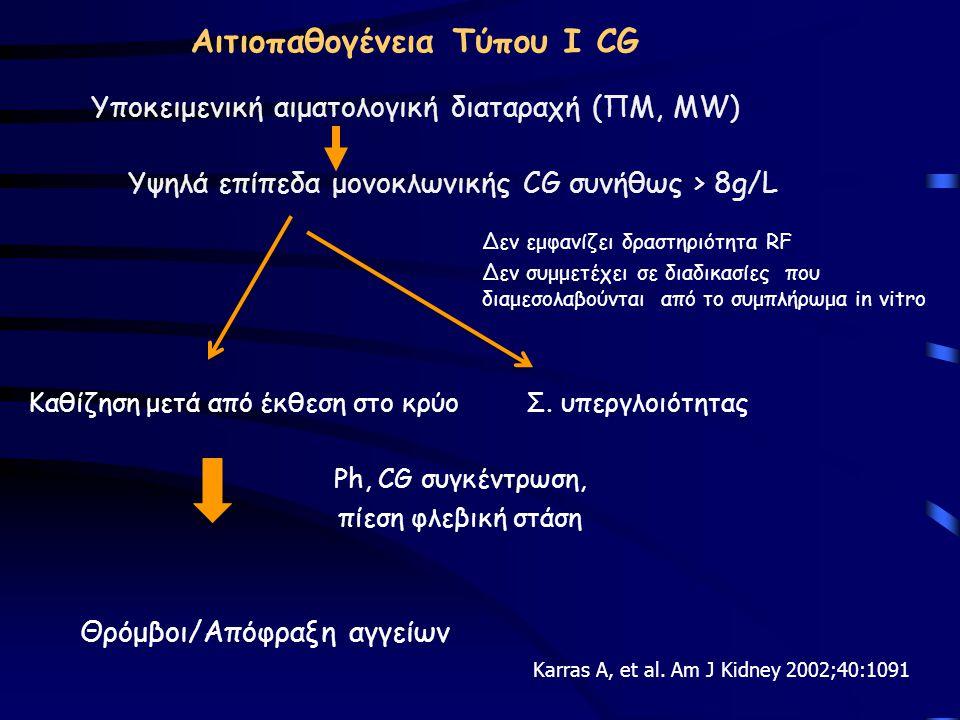 Αιτιοπαθογένεια Τύπου Ι CG