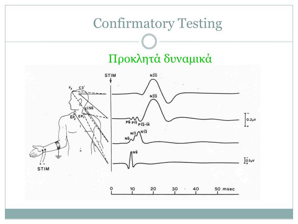 Confirmatory Testing Προκλητά δυναμικά