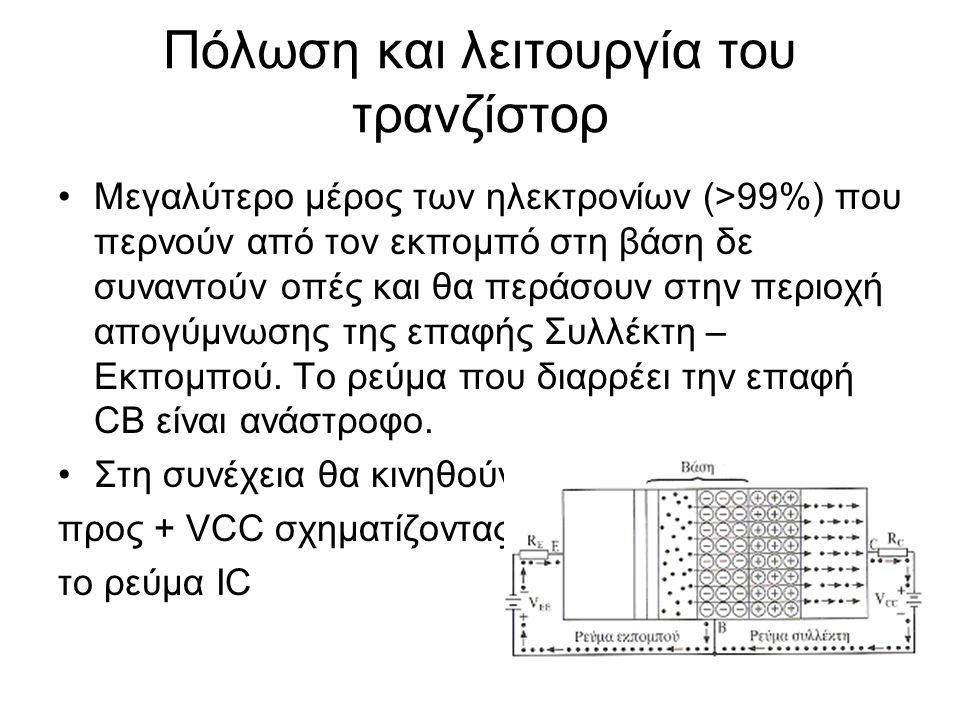 Πόλωση και λειτουργία του τρανζίστορ