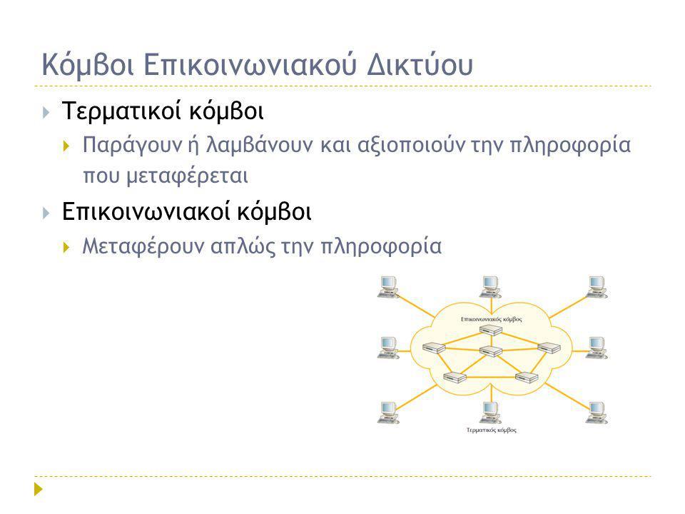 Κόμβοι Επικοινωνιακού Δικτύου