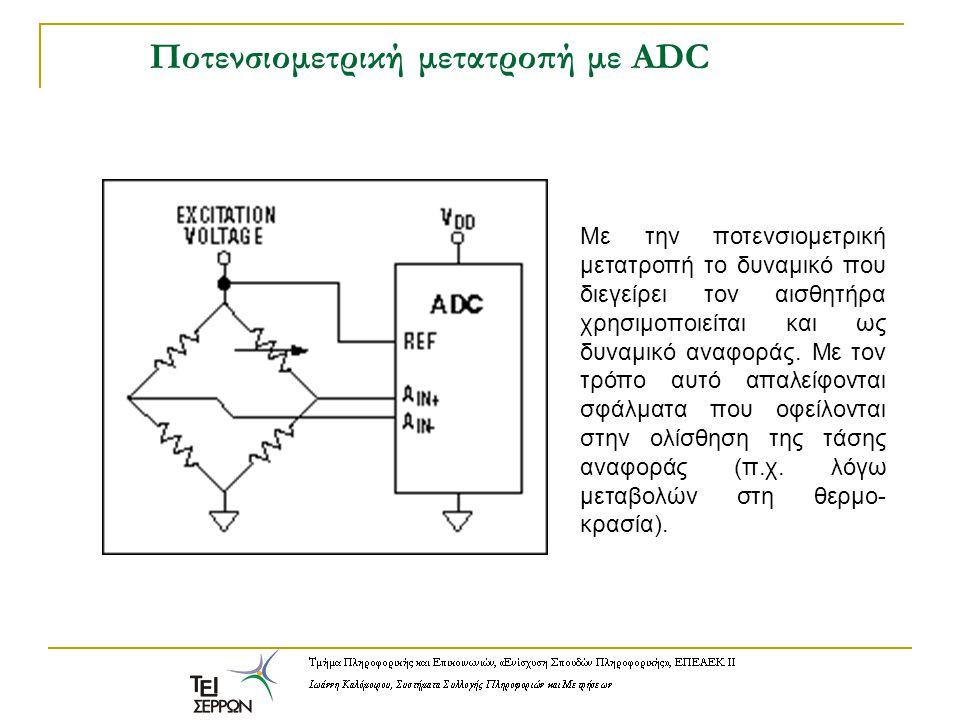 Ποτενσιομετρική μετατροπή με ADC