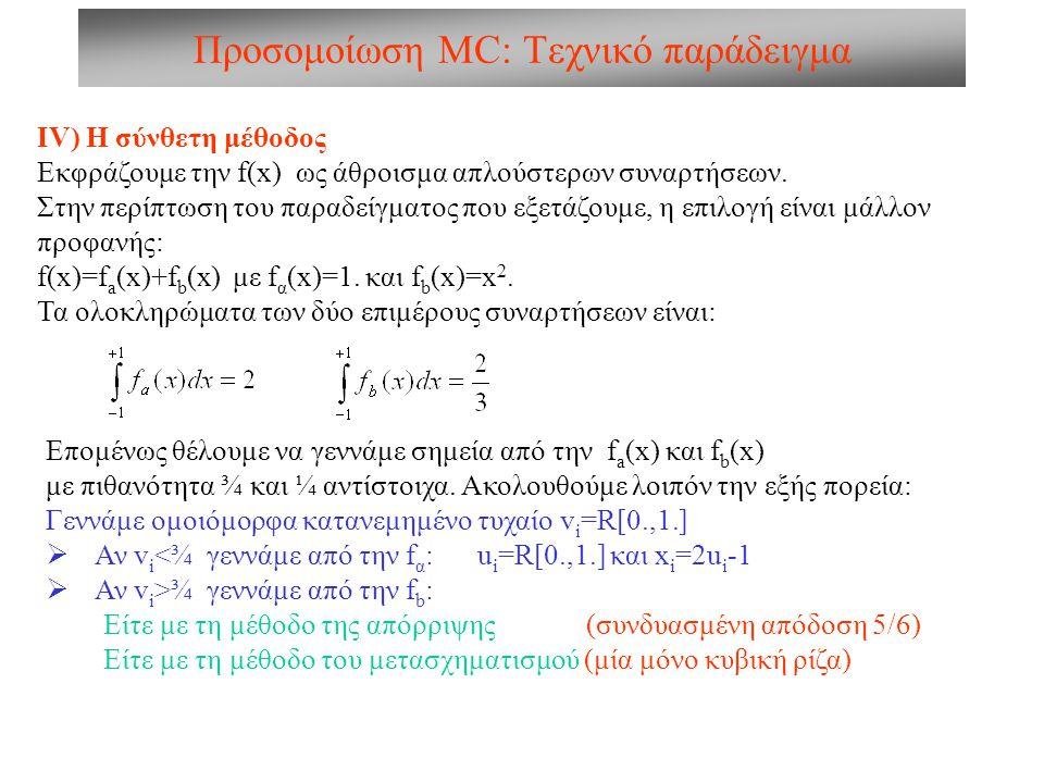 Προσομοίωση MC: Τεχνικό παράδειγμα