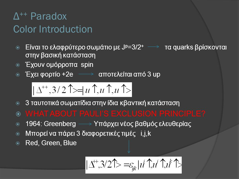 Δ++ Paradox Color Introduction