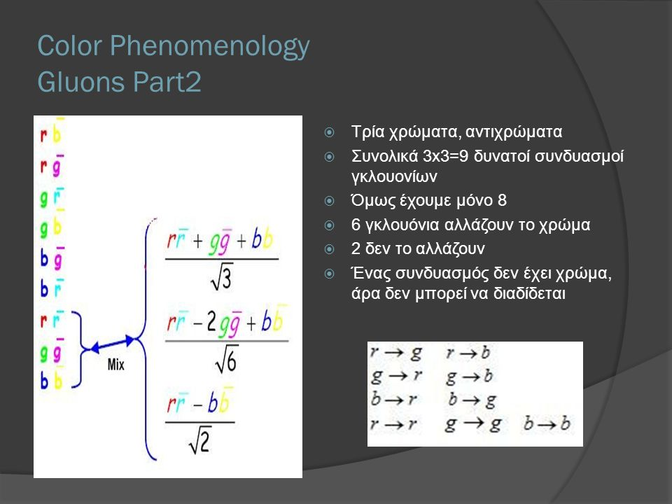 Color Phenomenology Gluons Part2