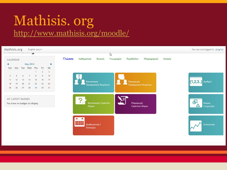 Mathisis. org http://www.mathisis.org/moodle/