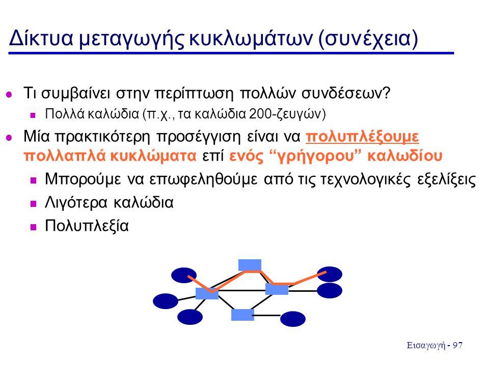 Δίκτυα μεταγωγής κυκλωμάτων (συνέχεια)