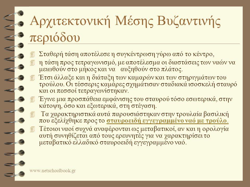 Αρχιτεκτονική Μέσης Βυζαντινής περιόδου