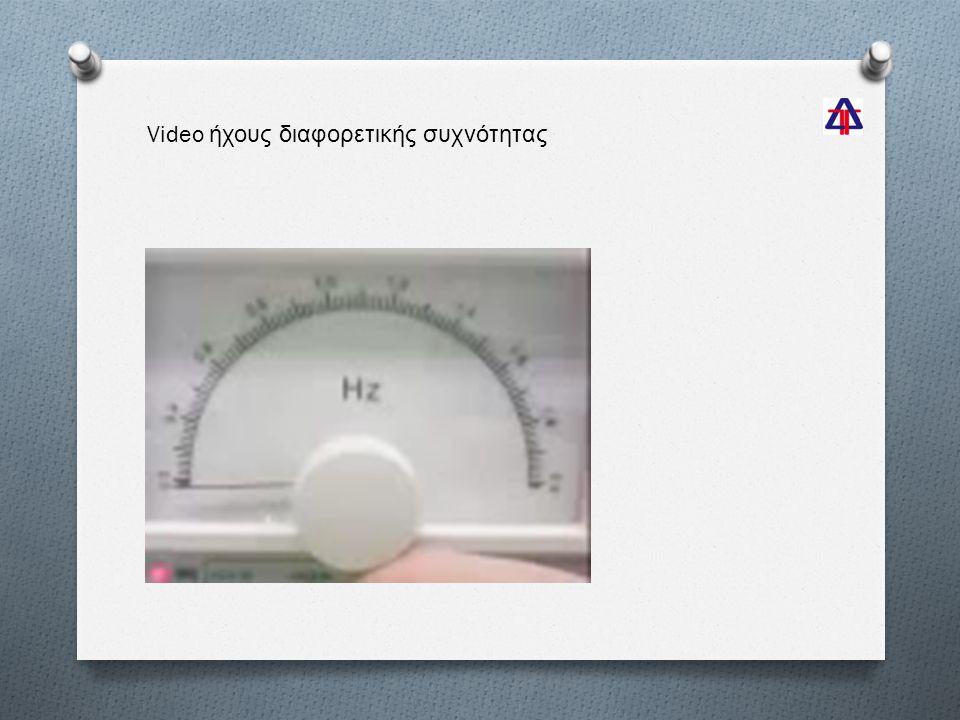 Video ήχους διαφορετικής συχνότητας