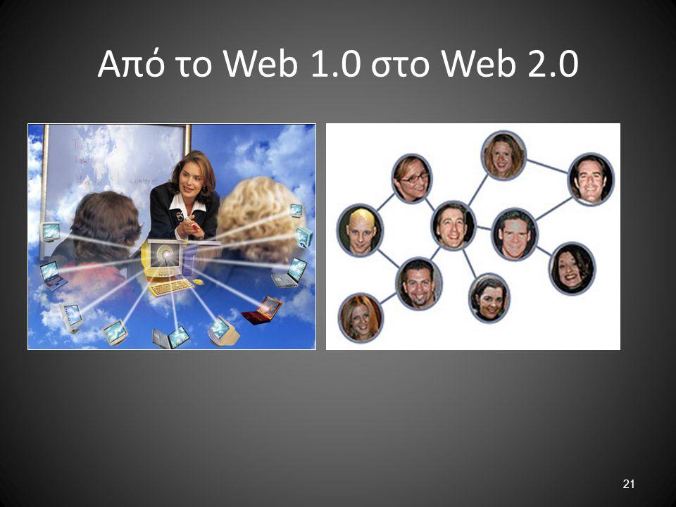 Από το Web 1.0 στο Web 2.0