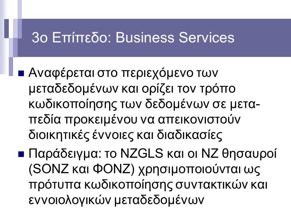 3ο Επίπεδο: Business Services