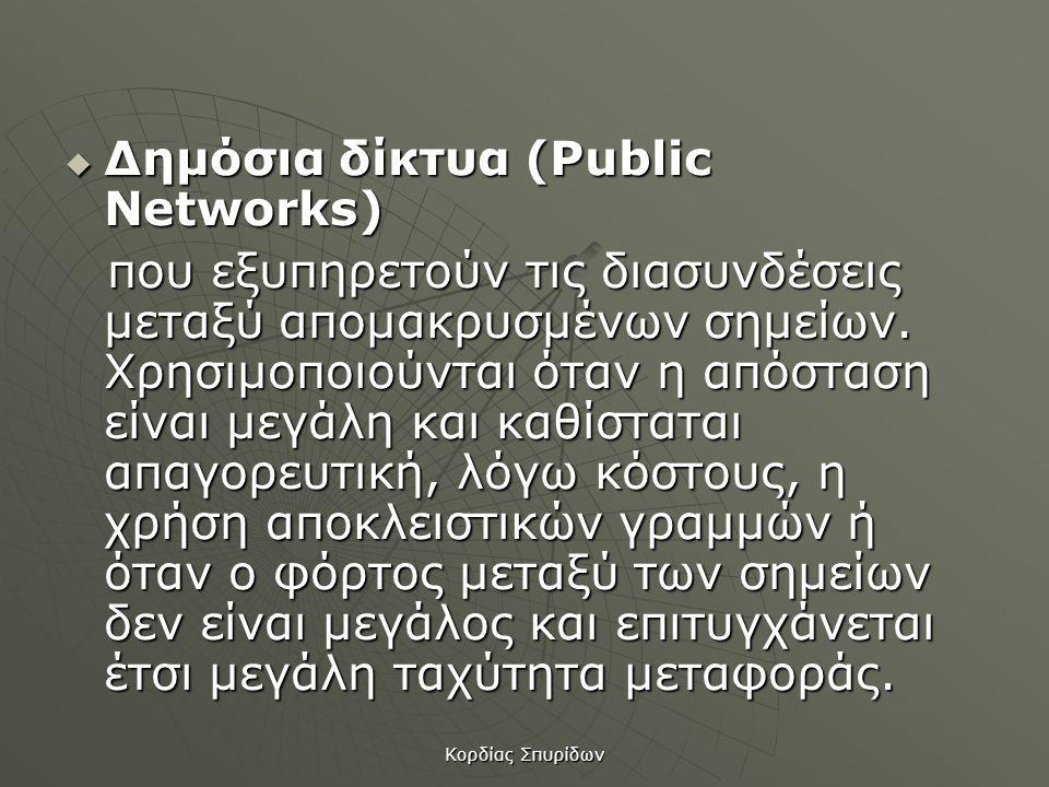 Δημόσια δίκτυα (Public Networks)
