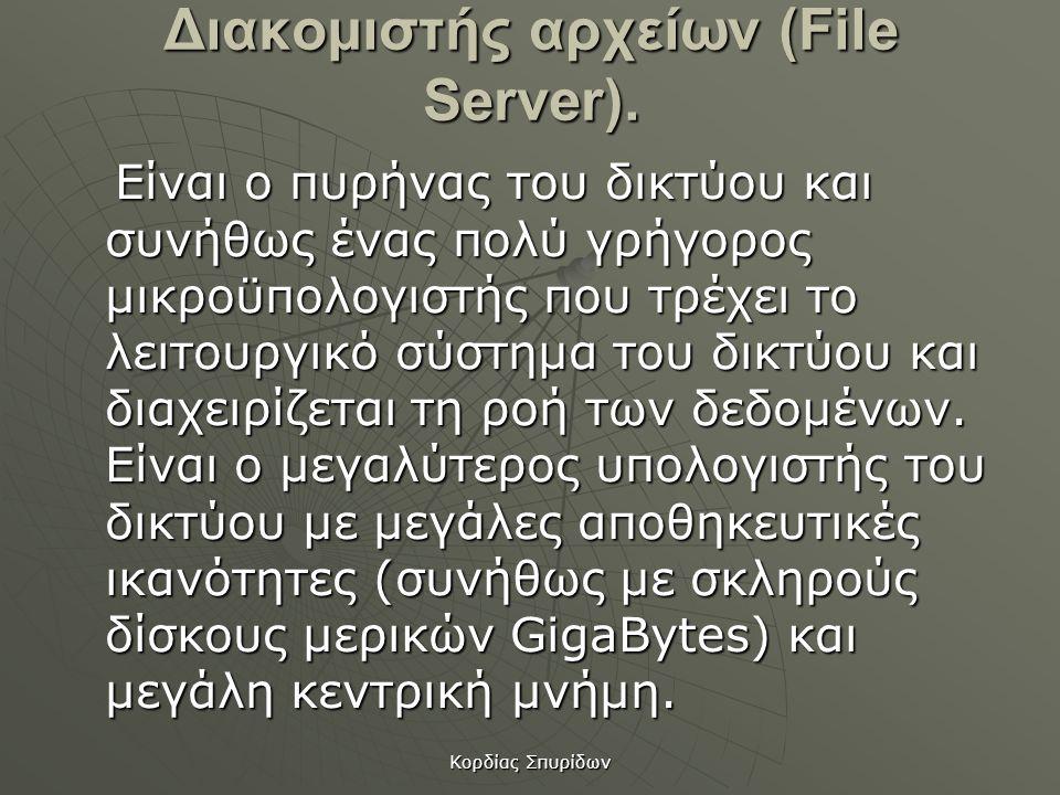 Διακομιστής αρχείων (File Server).