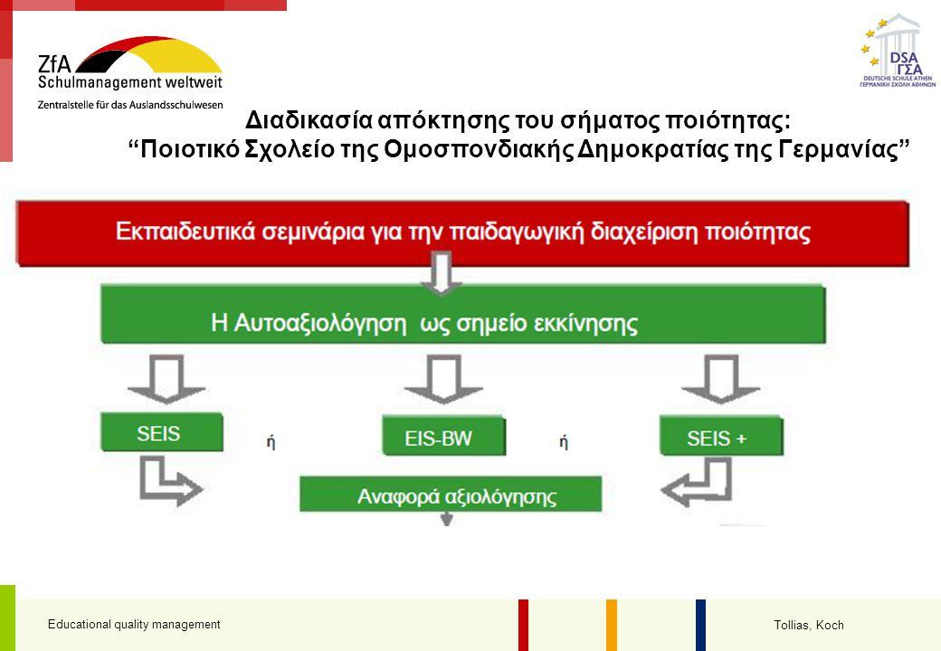 Διαδικασία απόκτησης του σήματος ποιότητας: