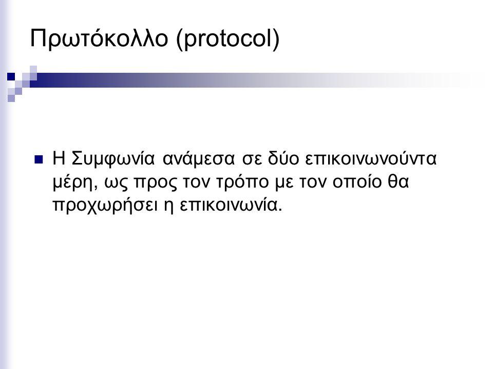 Πρωτόκολλο (protocol)