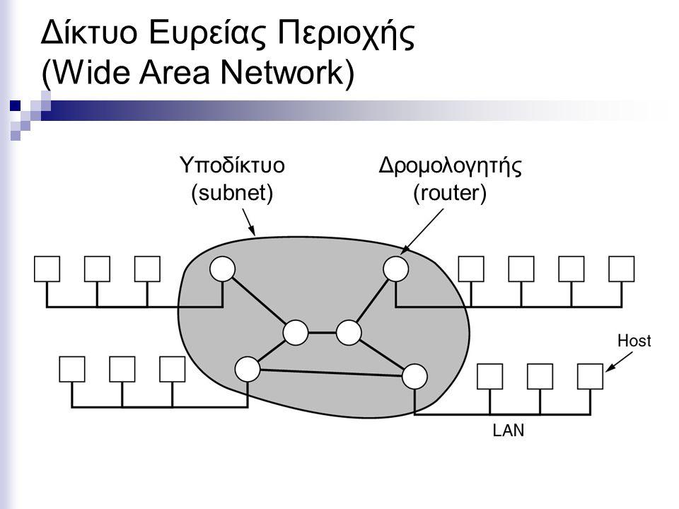 Δίκτυο Ευρείας Περιοχής (Wide Area Network)