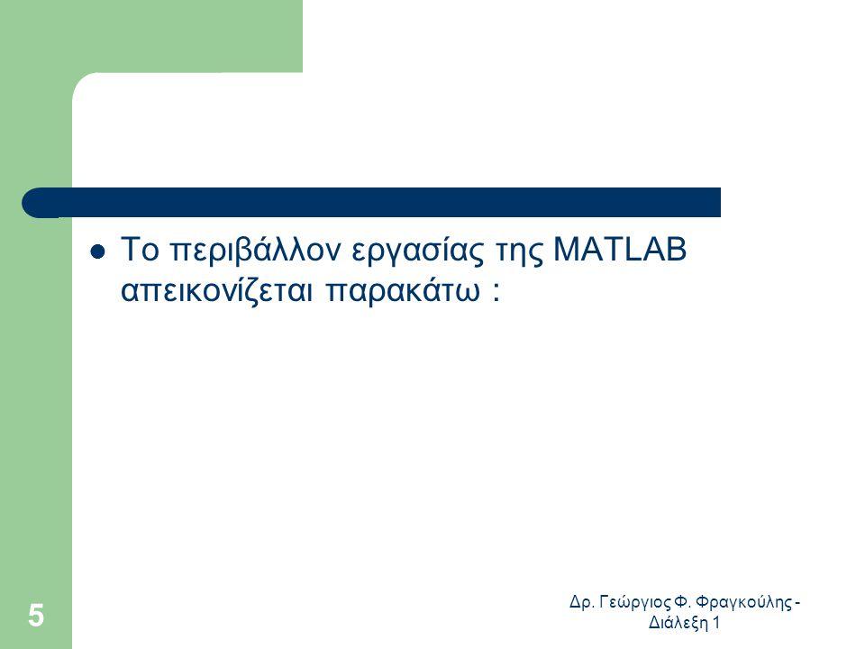 Δρ. Γεώργιος Φ. Φραγκούλης - Διάλεξη 1