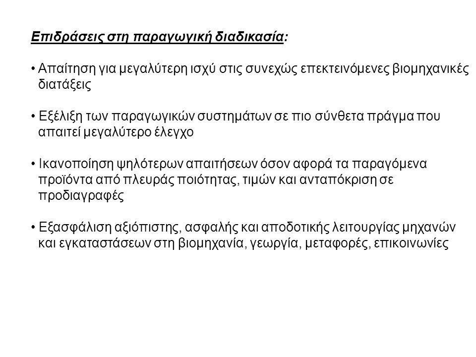 Επιδράσεις στη παραγωγική διαδικασία: